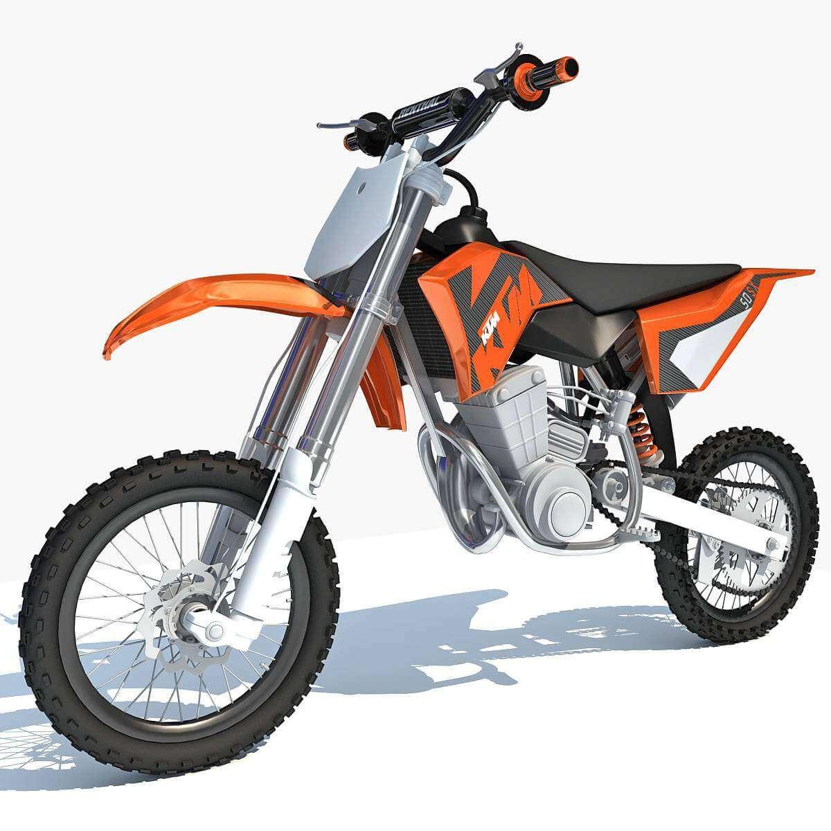Ktm Motocross Racing Bike 3d Model