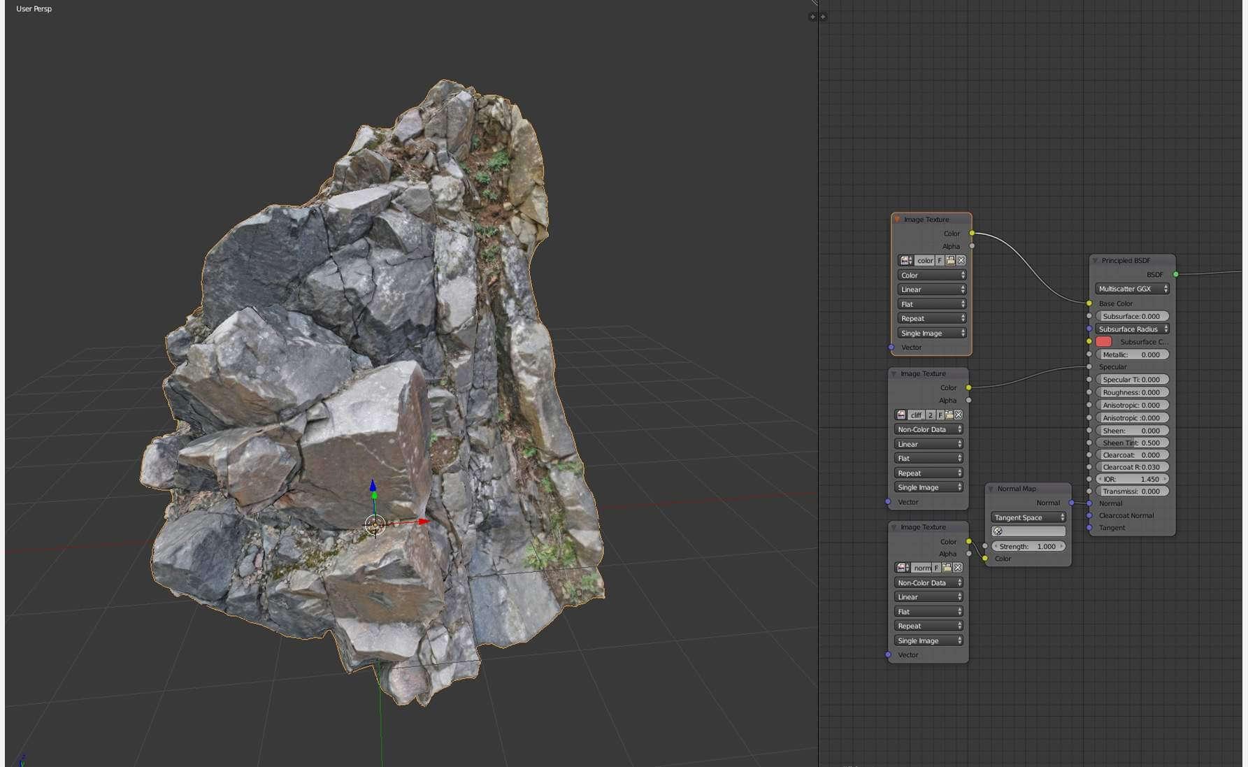 Cliff Face Scan I 3D Model