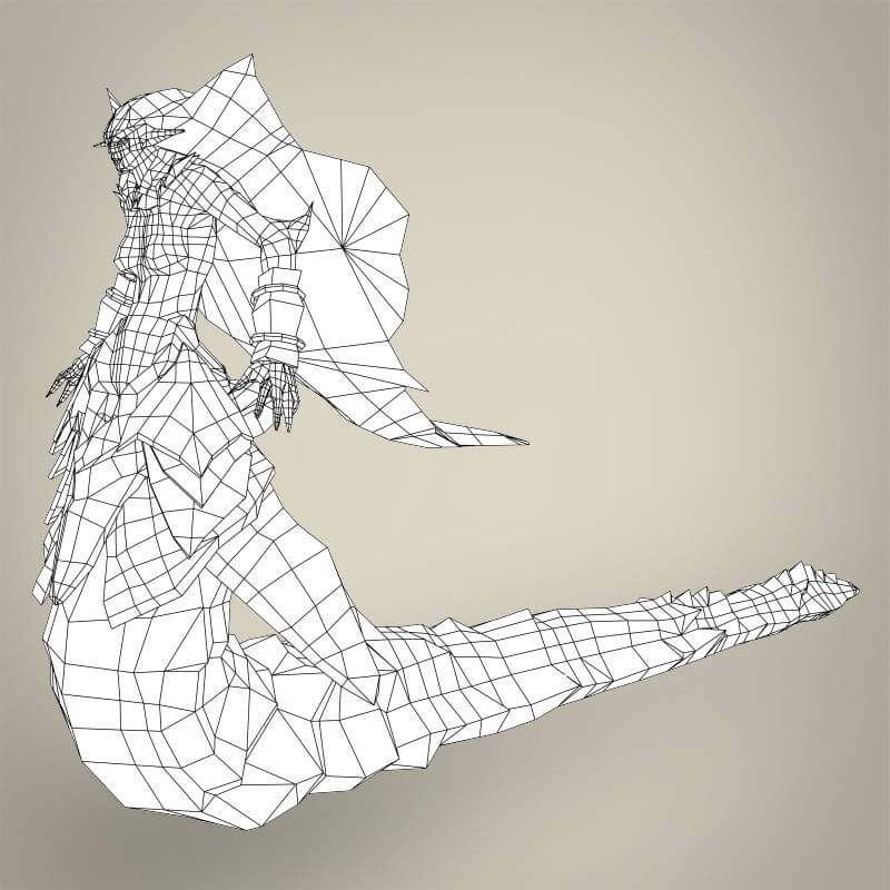 Fantasy Monster Snake Woman 3d Model