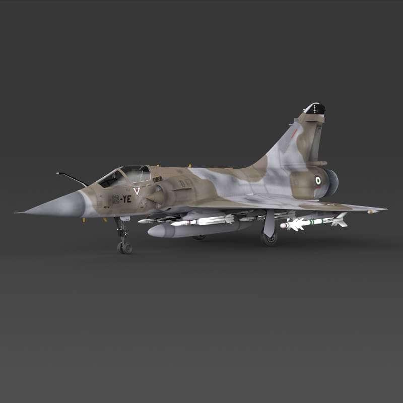 Mirage 2000 Fighter Plane 3D Model