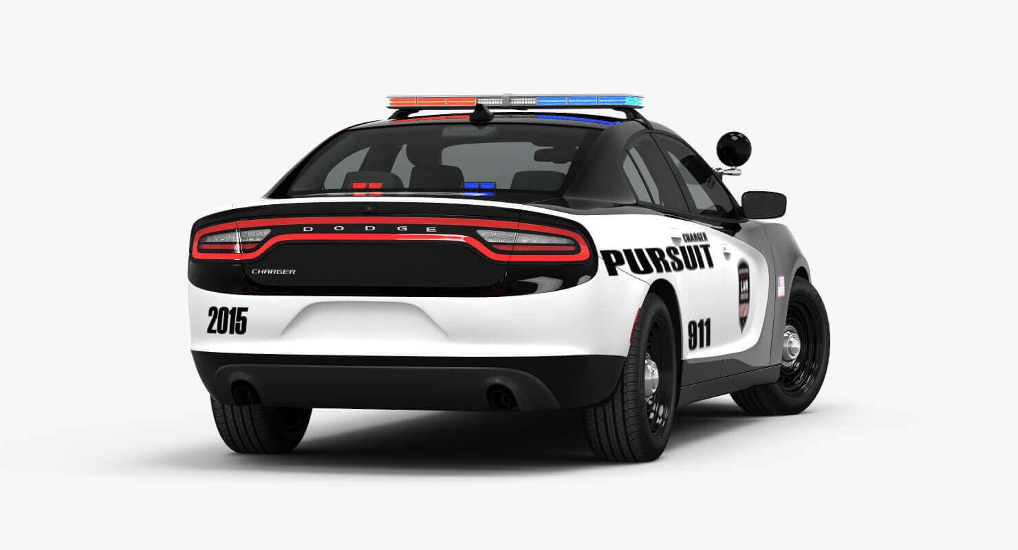 2015 Dodge Charger Pursuit 3d Model