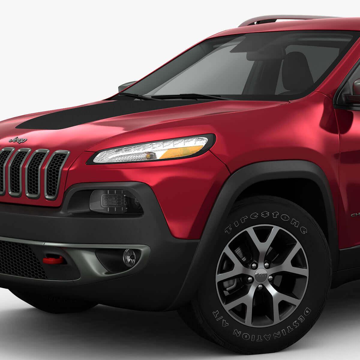 2014 jeep cherokee trailhawk 3d model. Black Bedroom Furniture Sets. Home Design Ideas