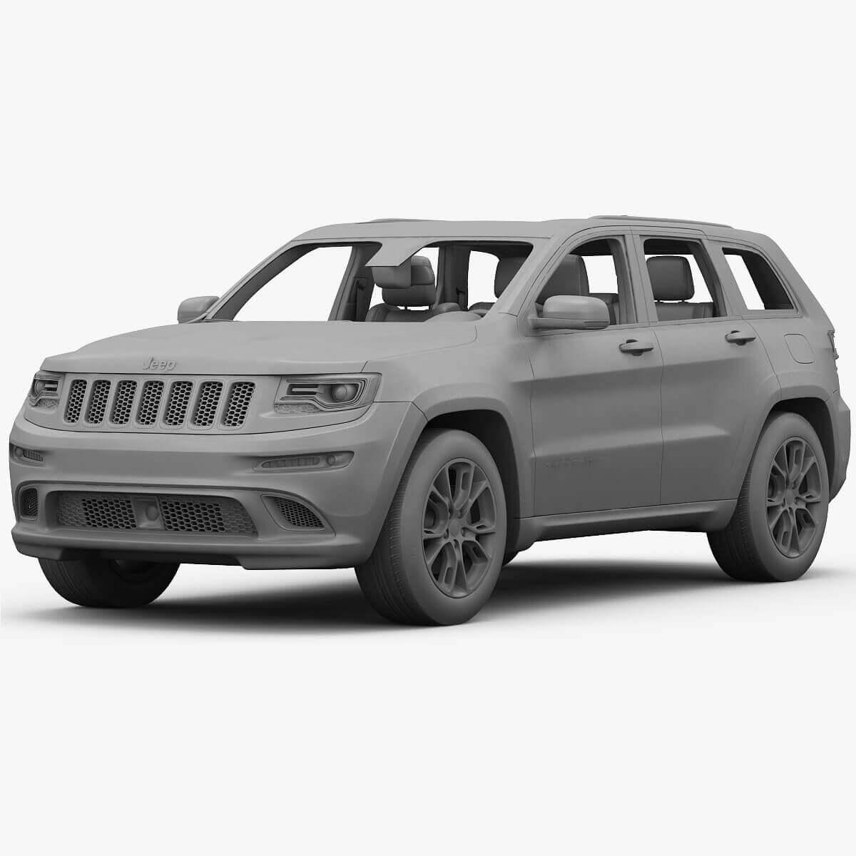 2015 Jeep Grand Cherokee Srt 3d Model