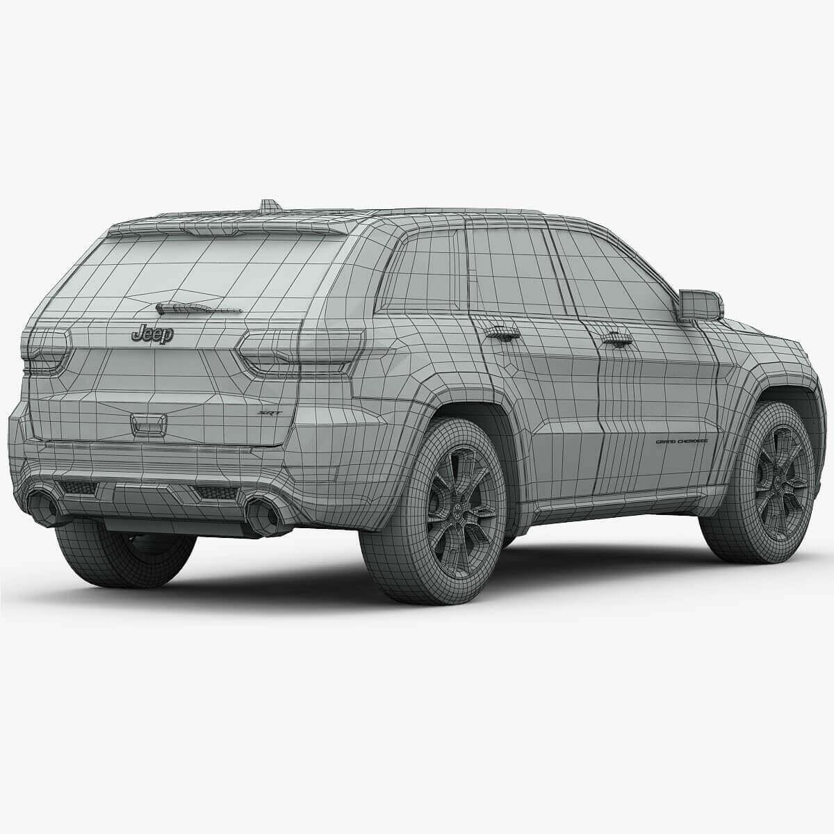 2015 Jeep Cherokee Interior: 2015 Jeep Grand Cherokee SRT 3D Model
