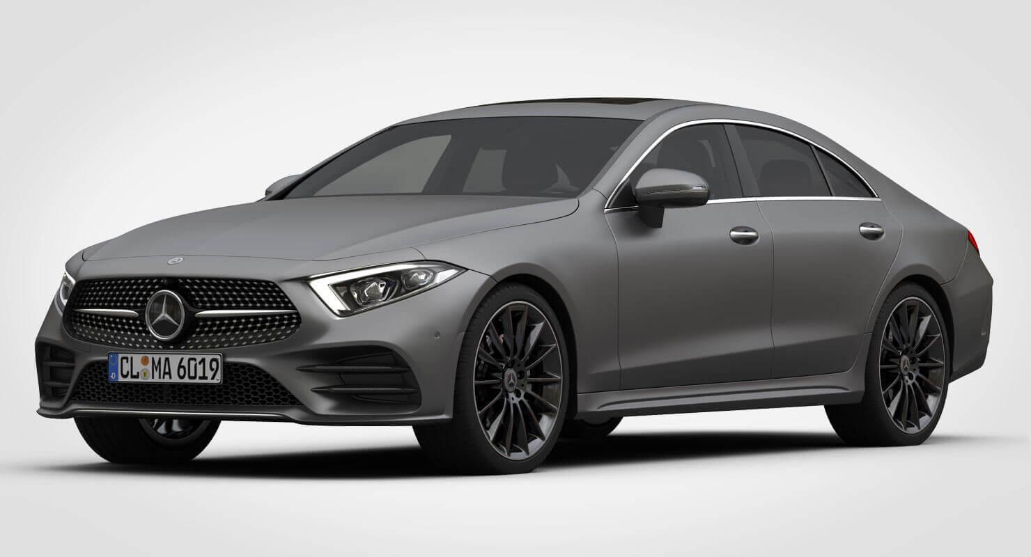 2019 mercedes benz cls amg line 3d model for Mercedes benz interieur