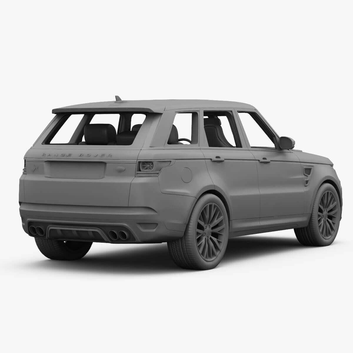 2015 Range Rover Sport SVR 3D Model