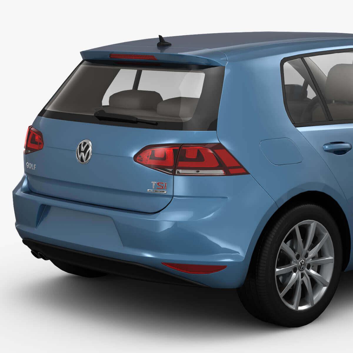 2019 Volkswagen Golf Gti 5 Door: 2013 Volkswagen Golf 7 5-Door 3D Model