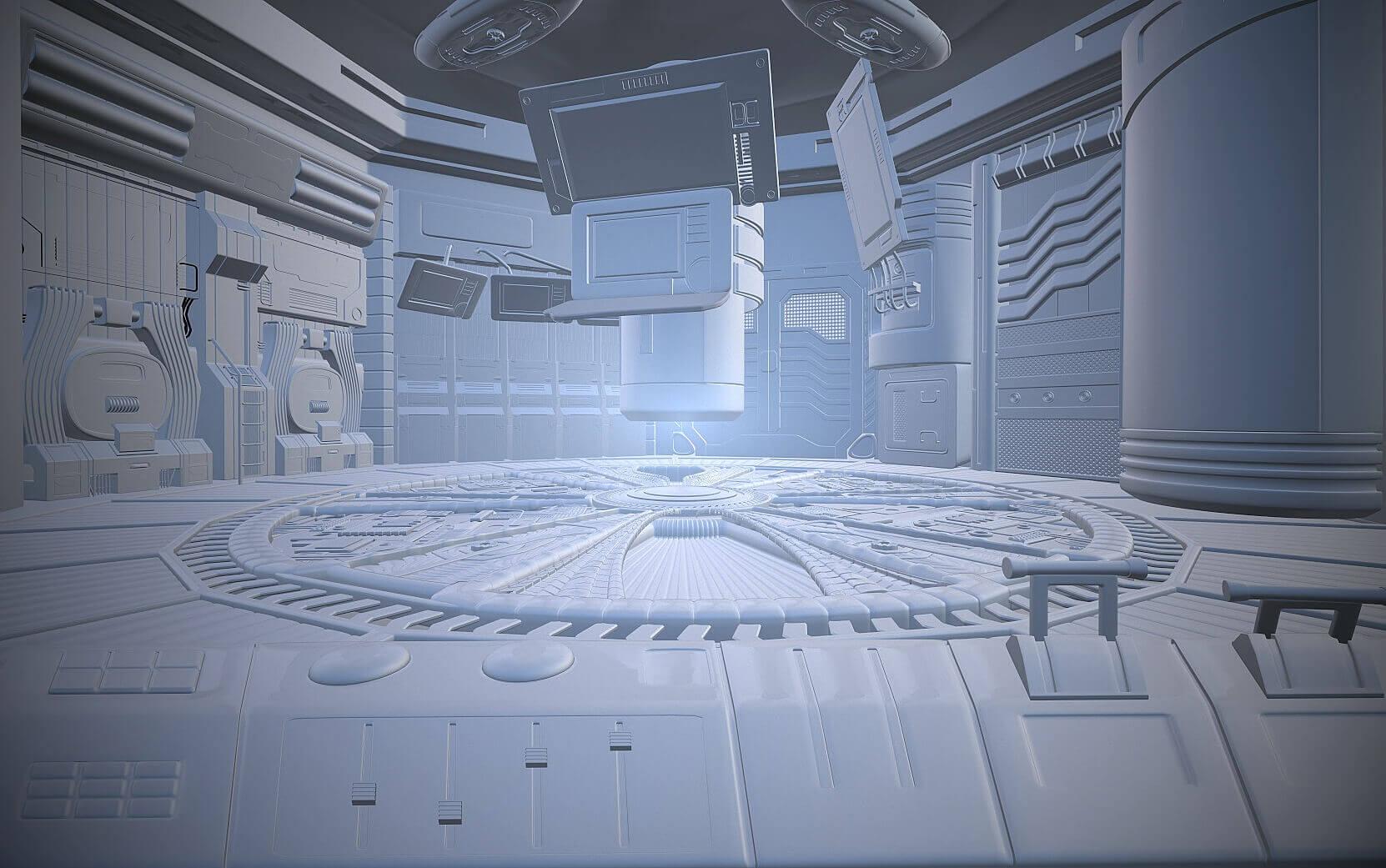 SciFi Scene 3D Model
