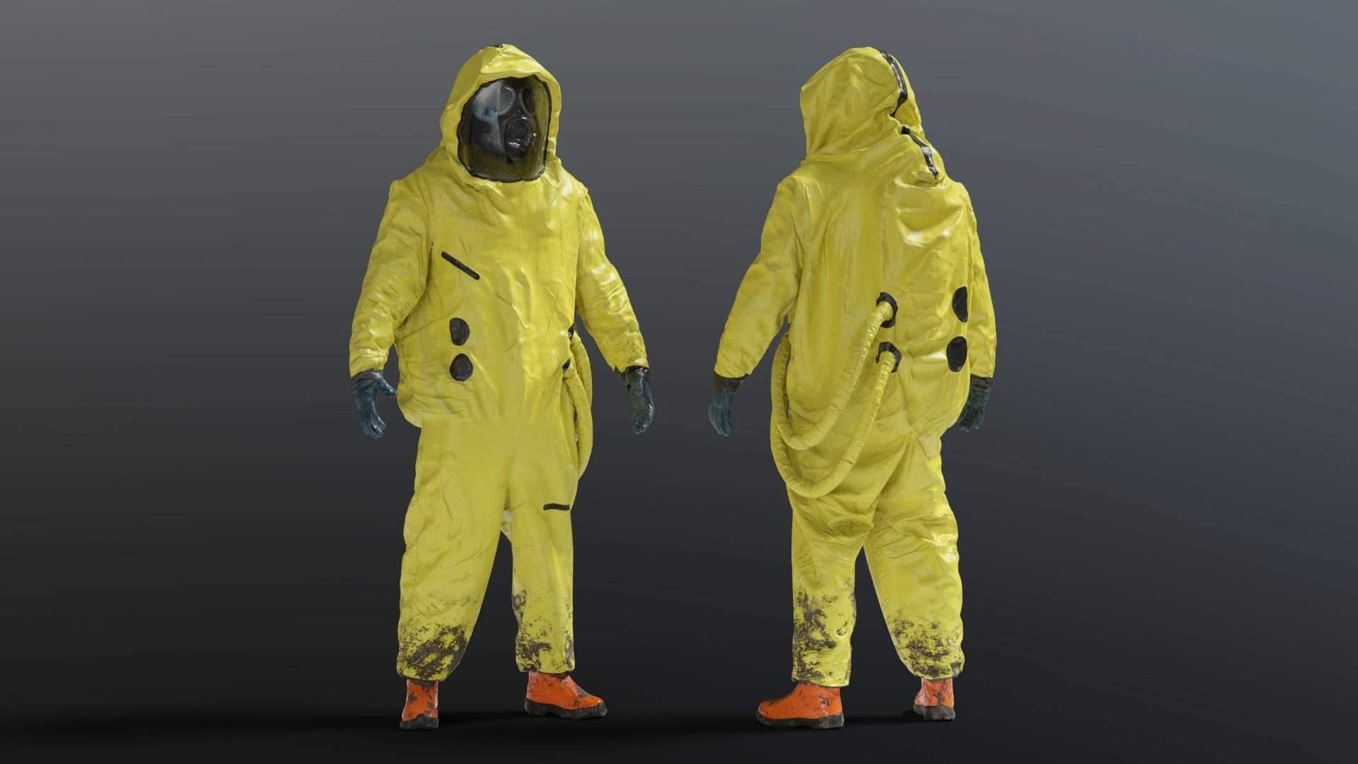NBC Hazmat Suit 3D Model
