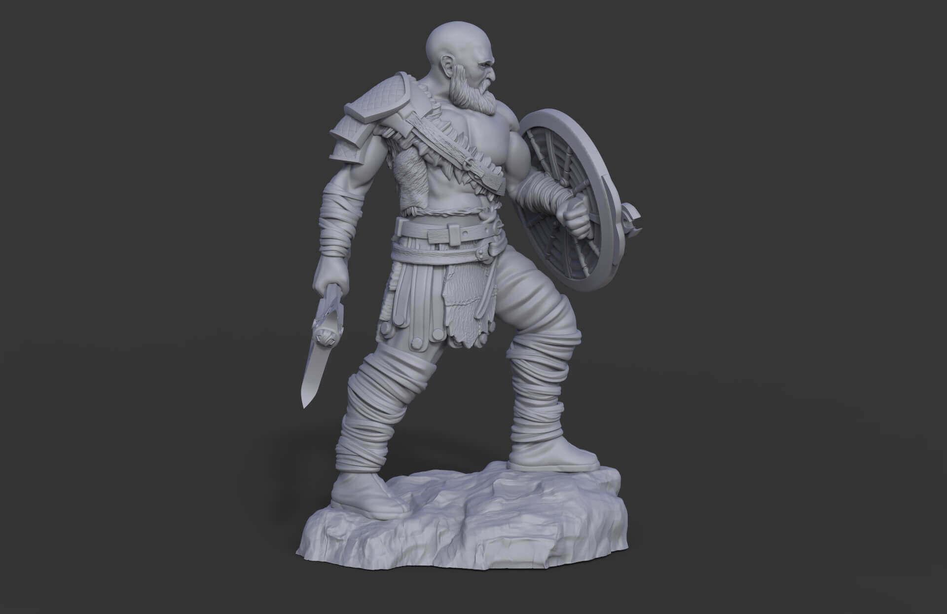 Kratos God Of War Print Ready 3d Model