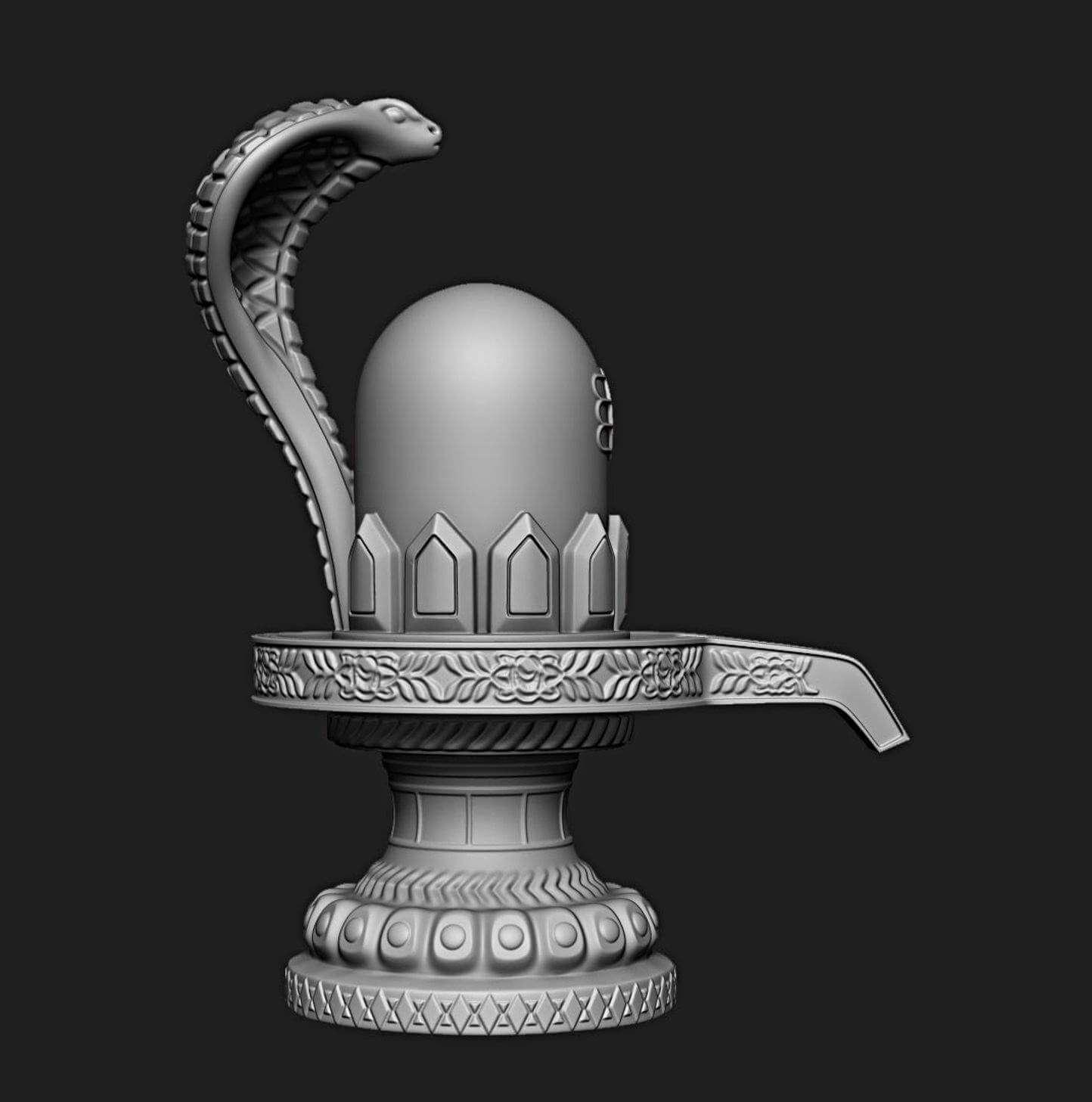 Shivling Lord Shiva Ling Print Ready 3D Model