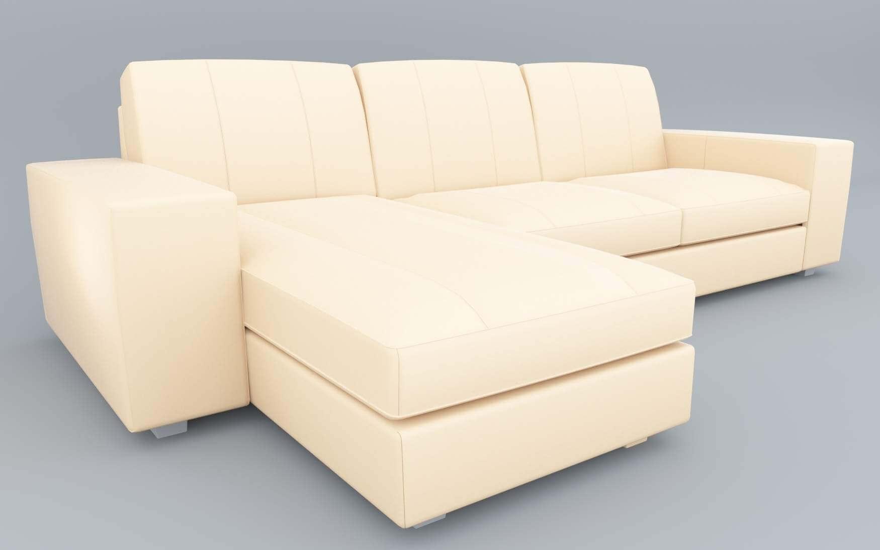 Ikea Kivik Leather Sofa 3D Model
