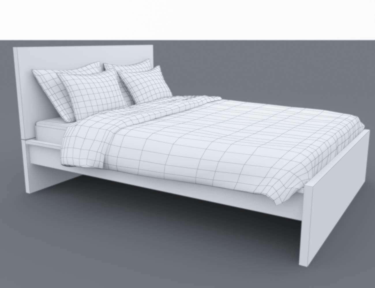 Ikea Malm Bed 3D Model