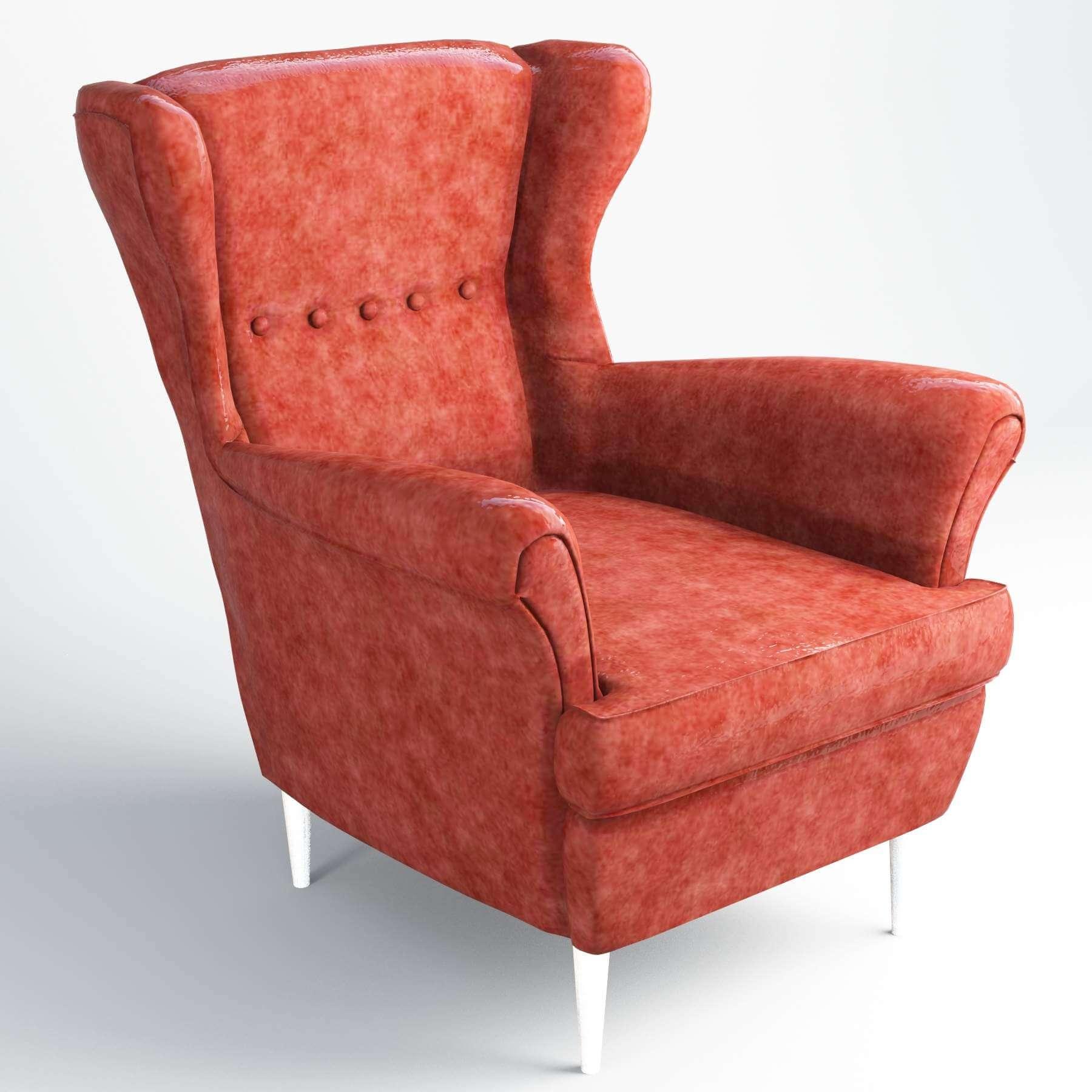 Ikea Strandmon Sofa 3D Model