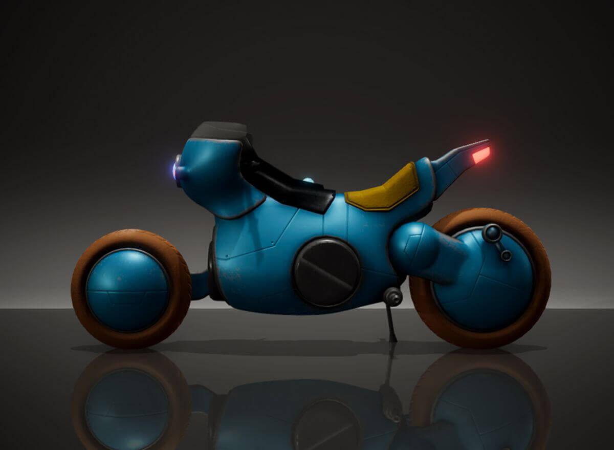 Tetsuos Bike 3D Model