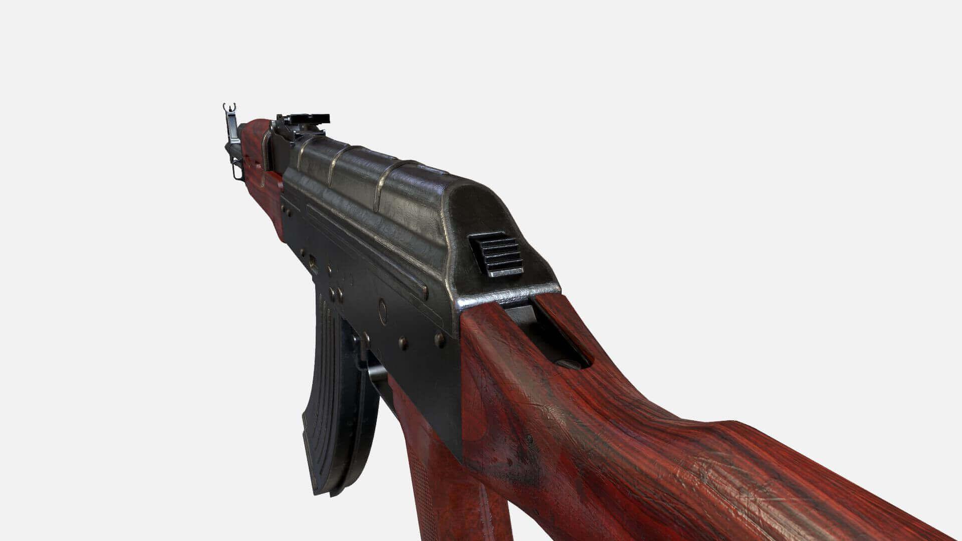 AKM Assault Rifle AK-47 3D Model