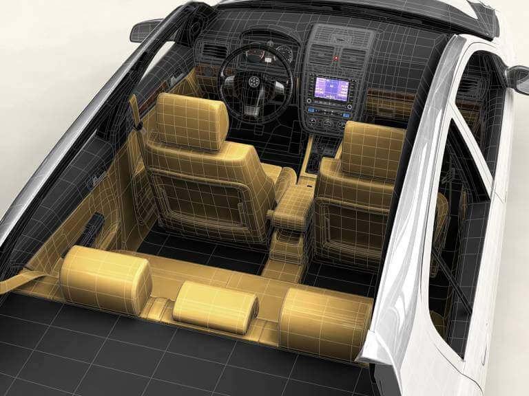 Generic Compact Class Car 3D Model