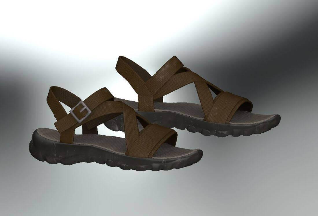 cdde84769d Casual Sandal 3D Model