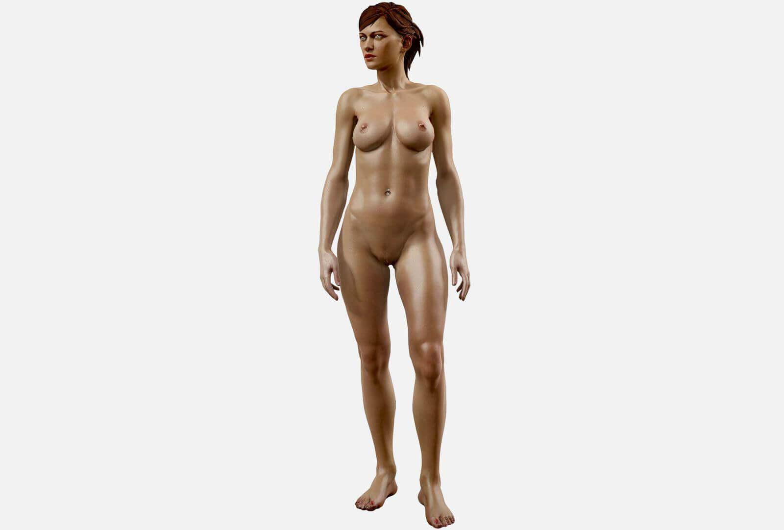Modèle 3D nue