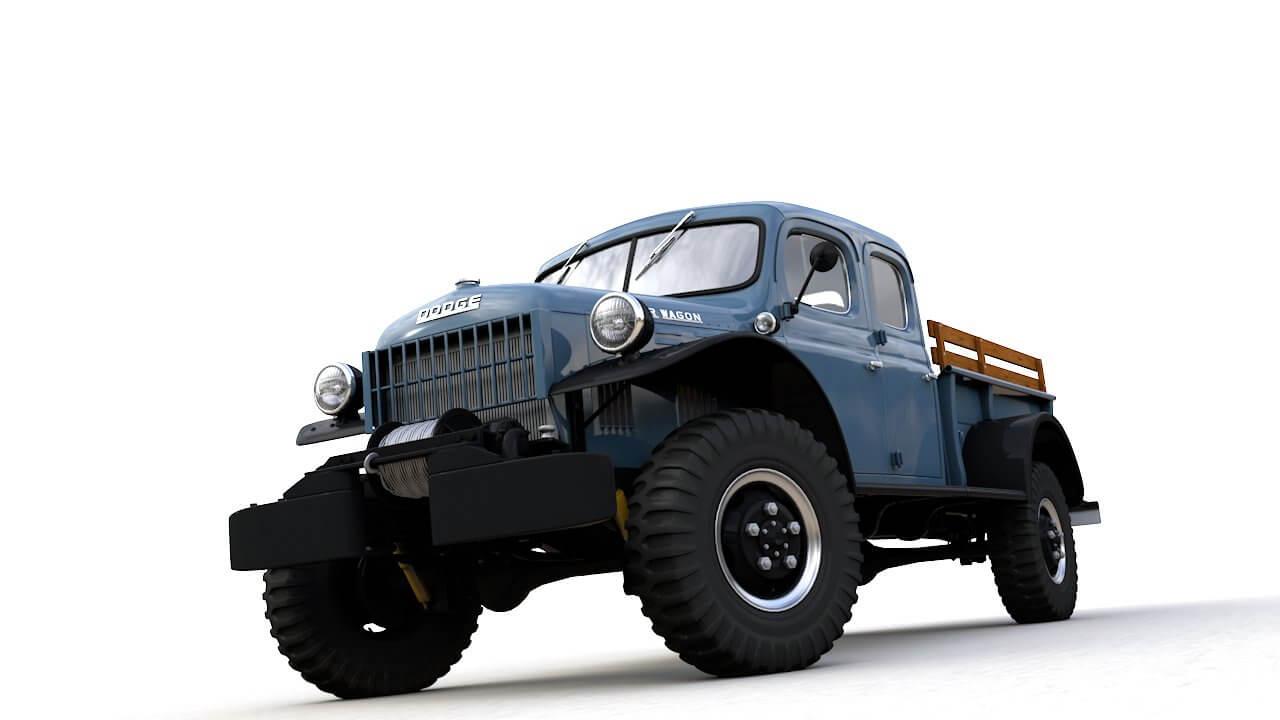 Dodge Power Wagon Crew Cab 1946 3d Model