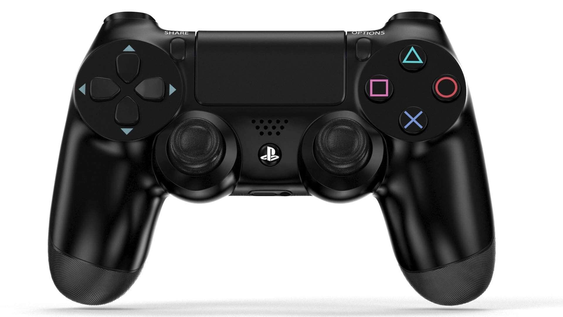 Sony Playstation Dualshock 4 3d Model Ds4 New Dual Shock Light Blue