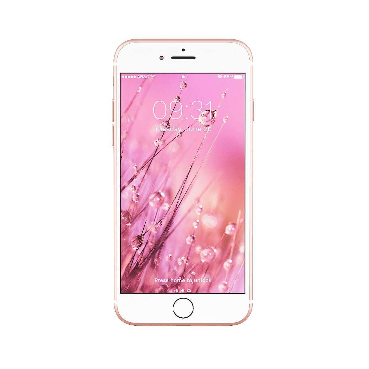 iPhone 7 Rose Gold 3D Model