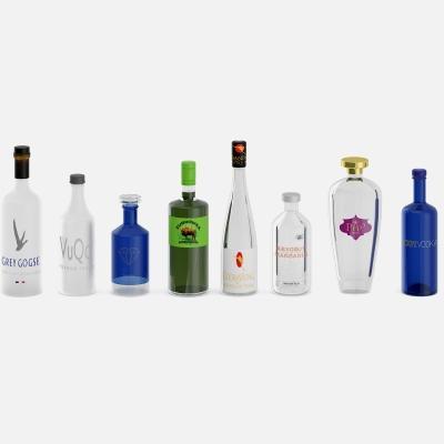 Liquor Bottles 3D Model