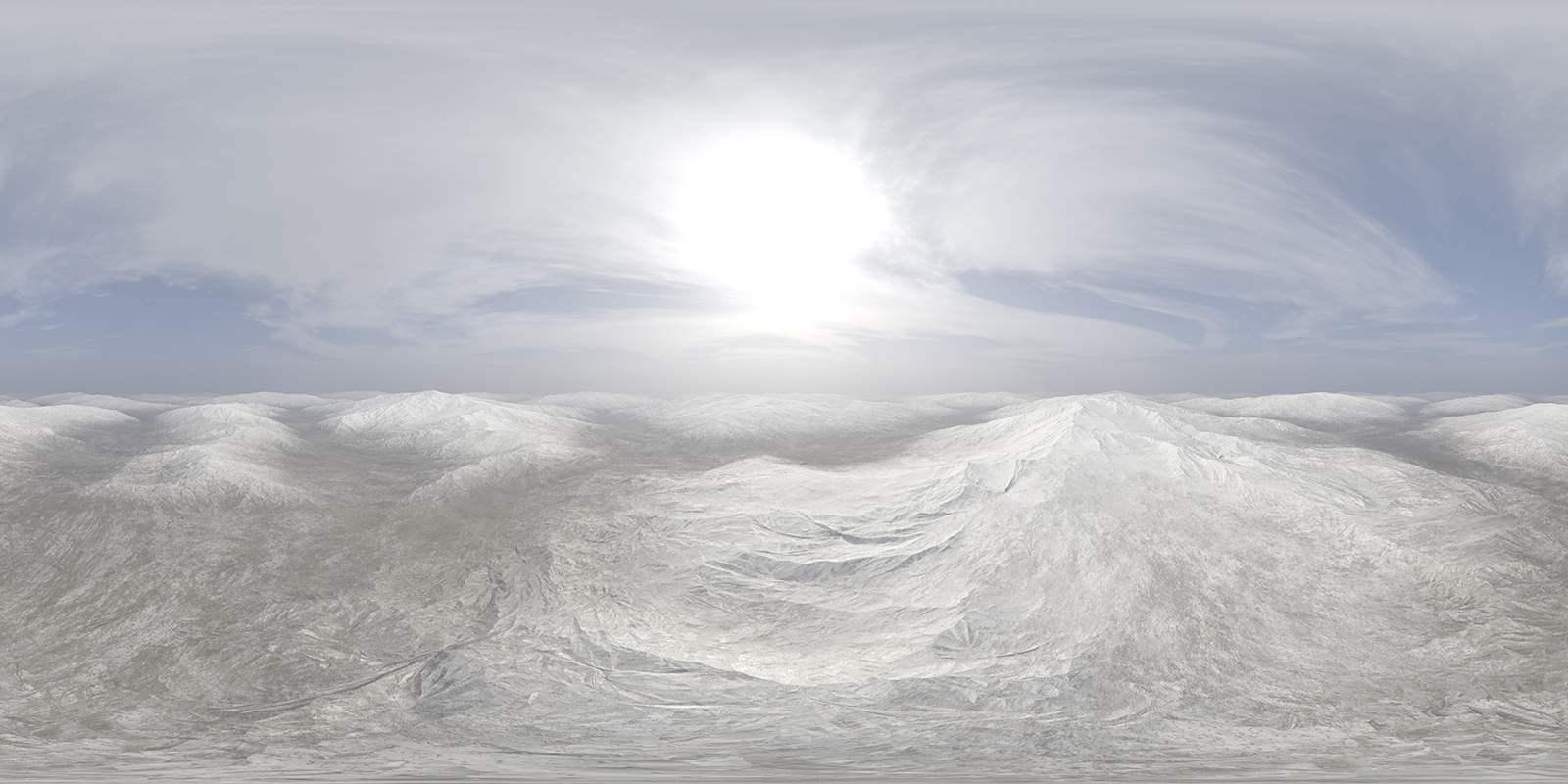 Midday Snow Hills HDRI Sky