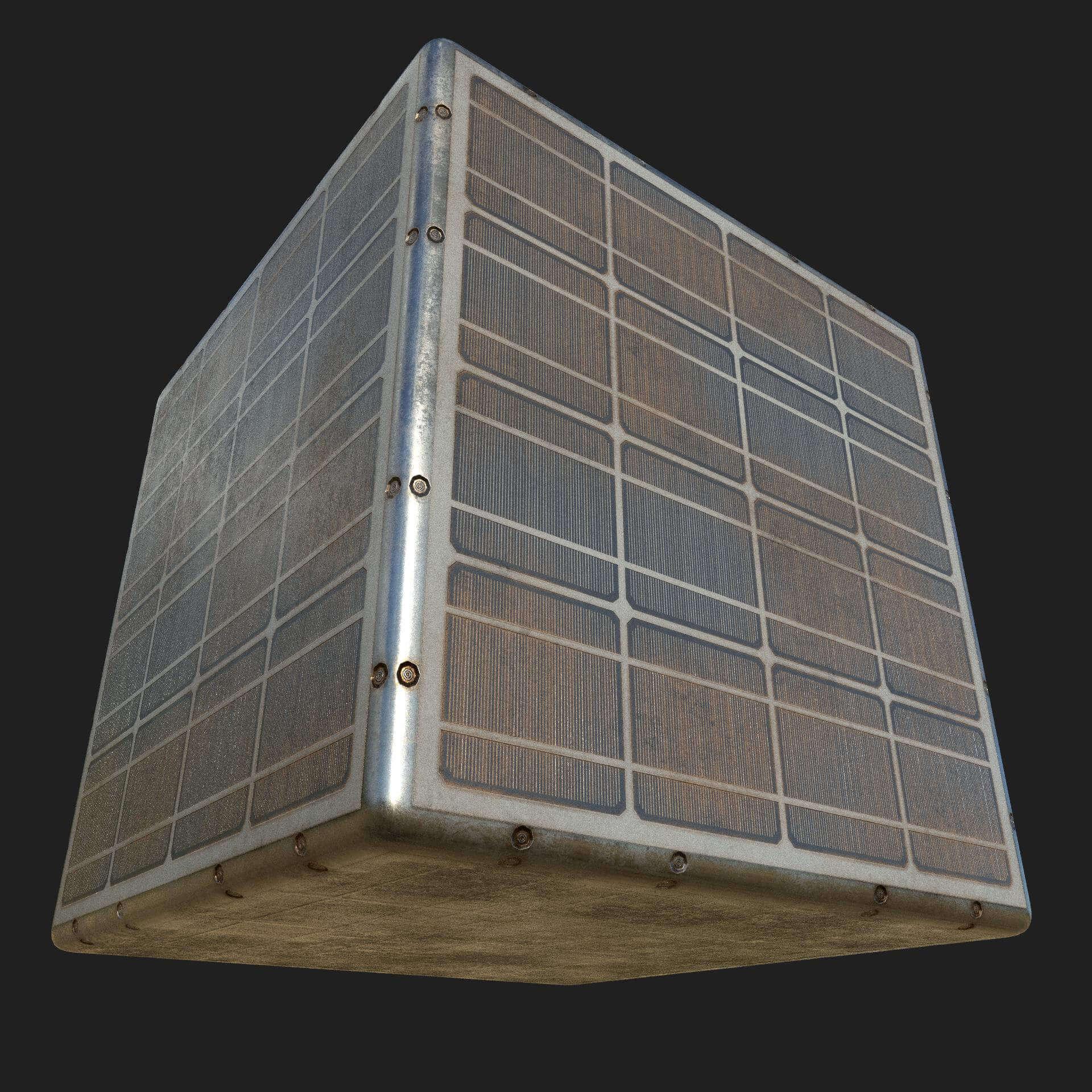 Old Solar Panels Seamless Texture