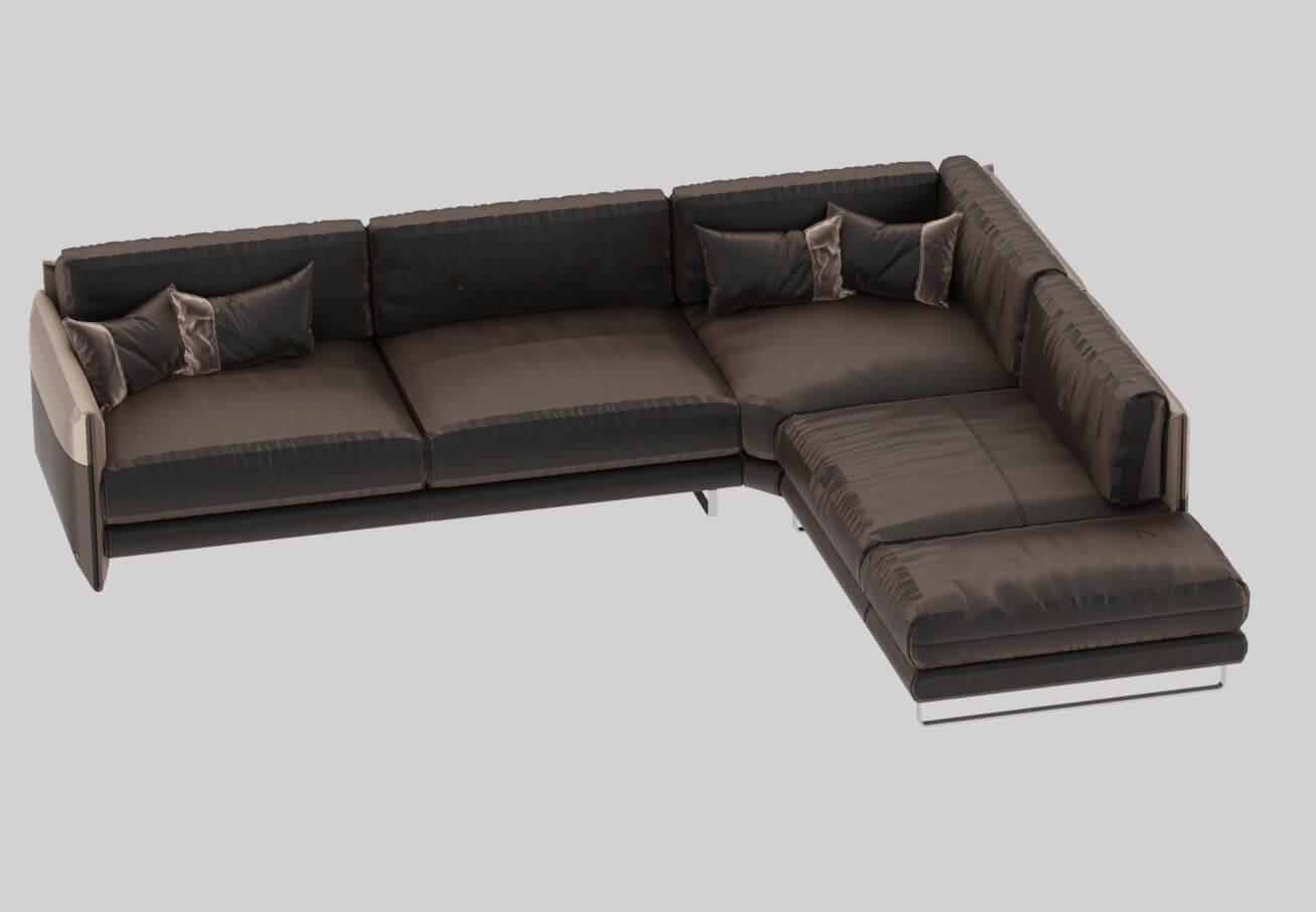 Modern Luxury Leather Sofa Model
