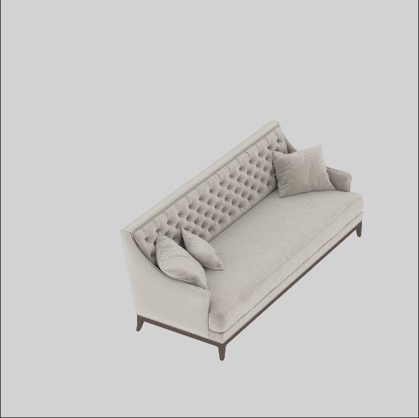 European Style Luxury Fabric Sofa Model