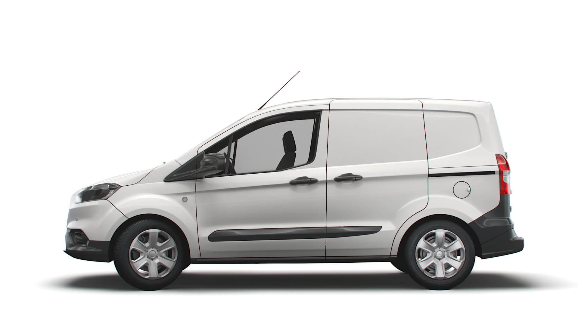 ford transit courier trend uk-spec 2020 3d model