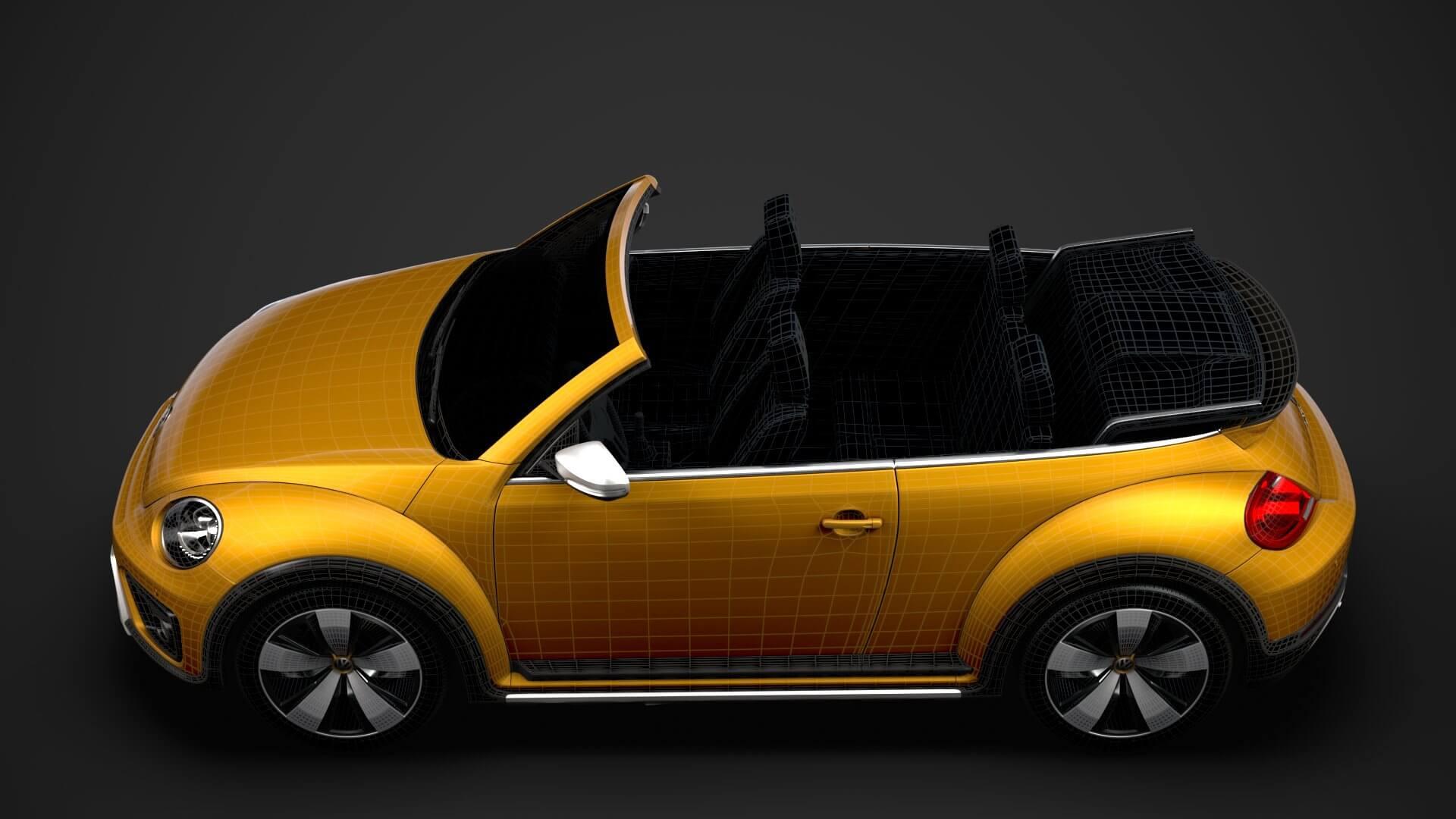 VW Beetle Dune Convertible 2020 3D Model