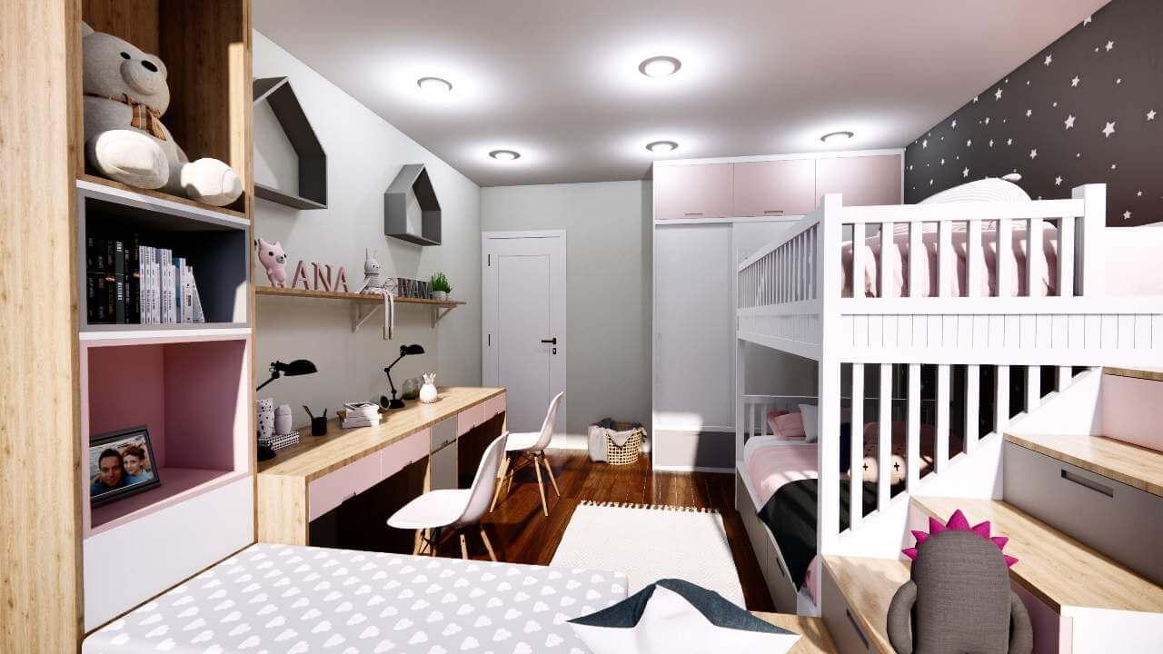 Childrens Room Interior 3d Model
