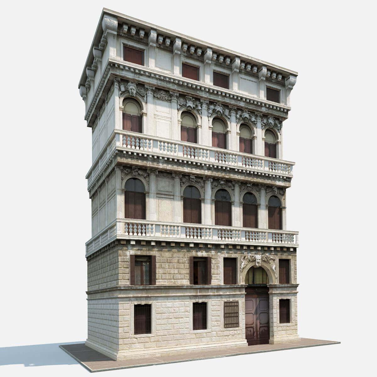Apartment House #162. 3D Model ...