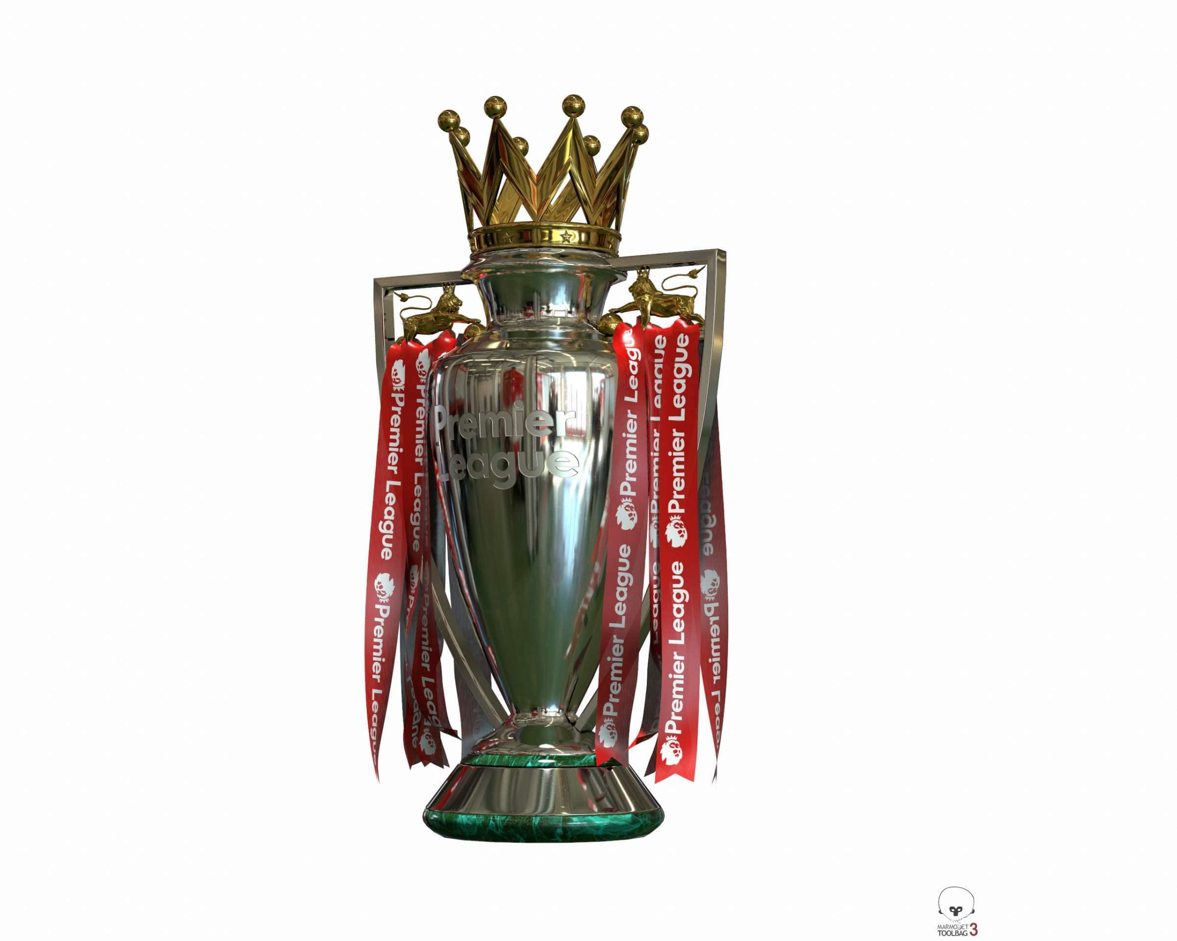 English Premier League Trophy 3d Model