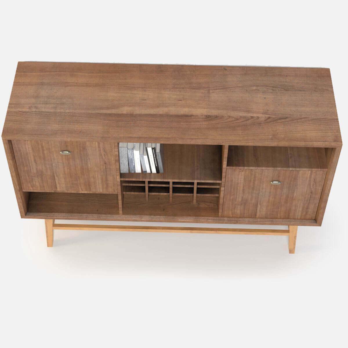 Retro console table 3d model Retro sofa table