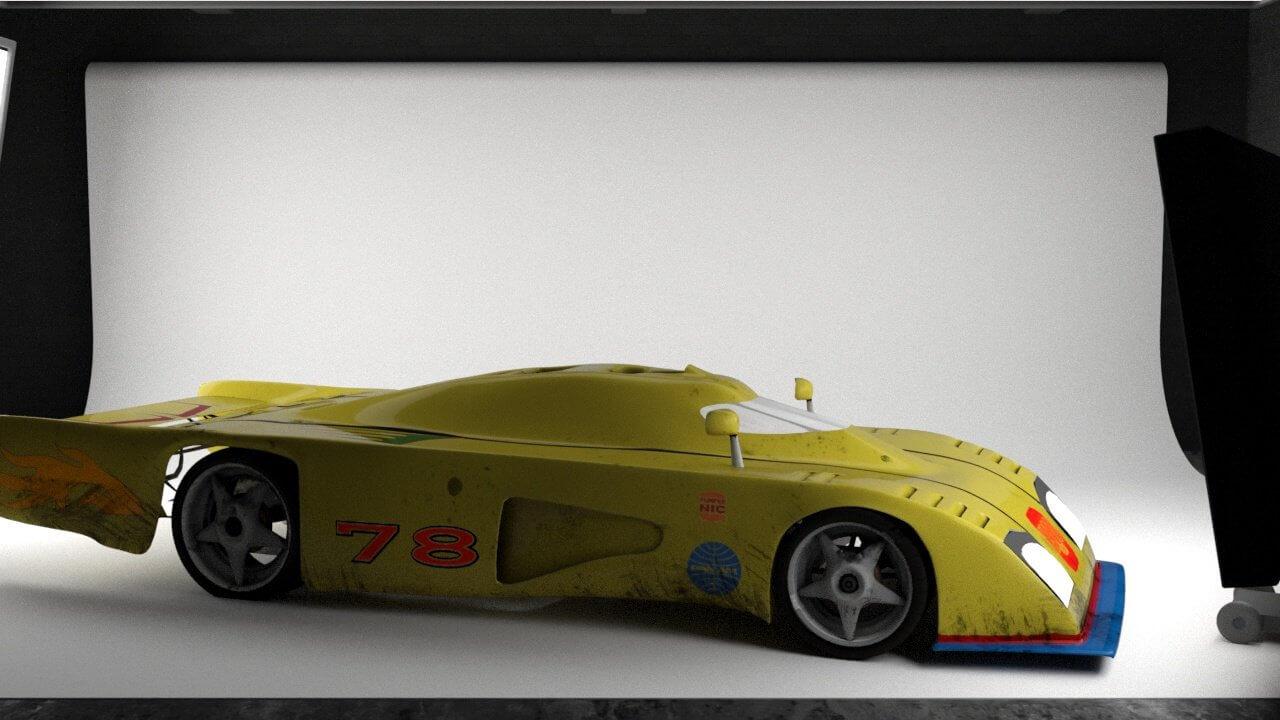 Dome Zero RL80 Japanese Concept Car 3D Model