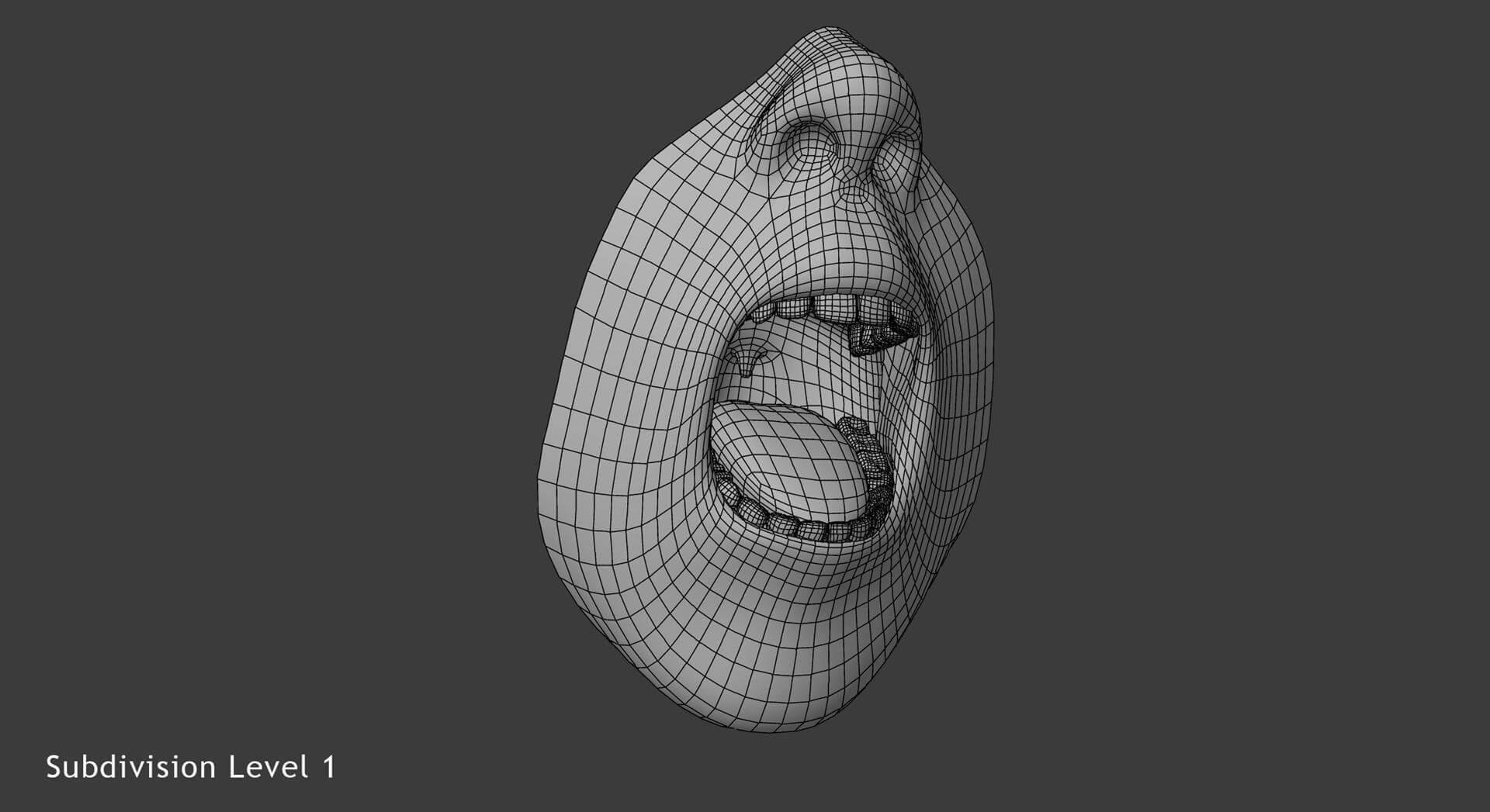 Male Mouth 3D Model