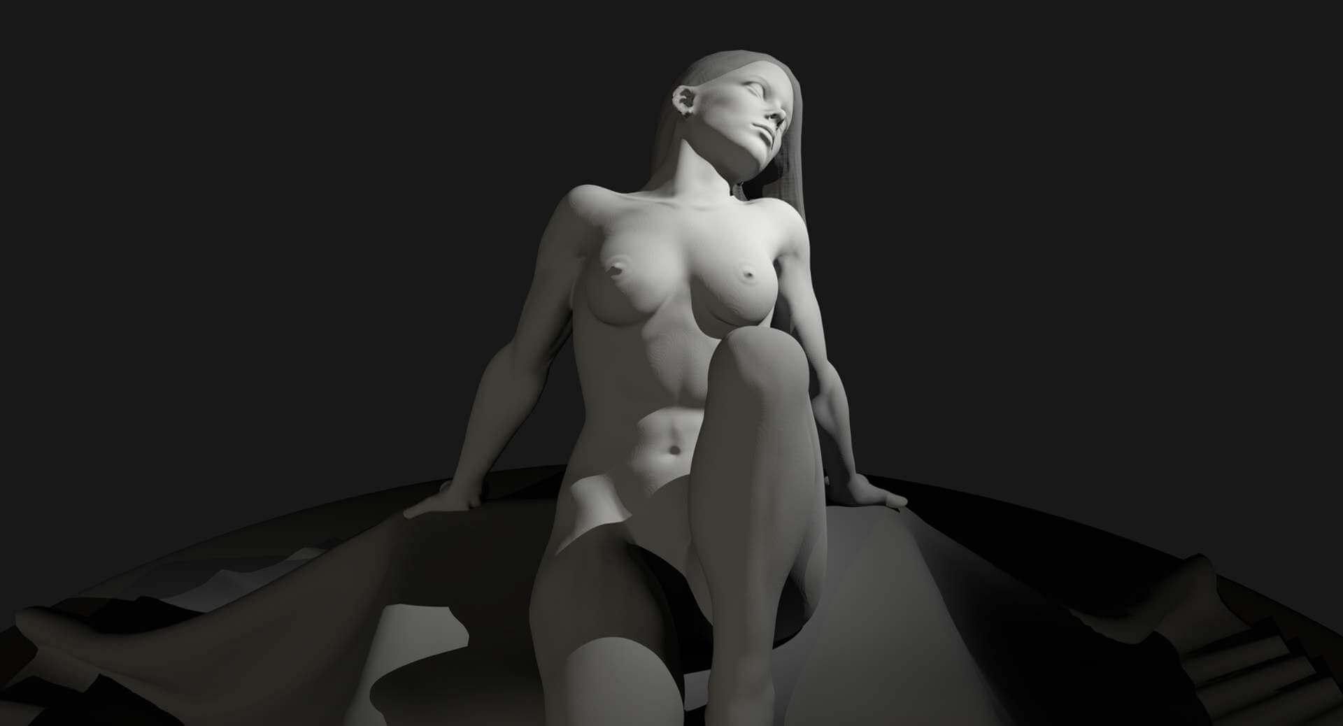 Amazing 3D Porn Art nude female art model 3d model
