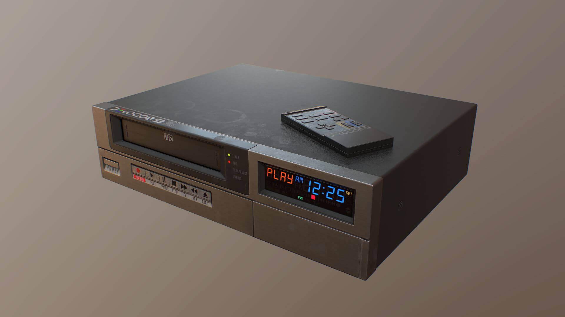 1980s VCR VHS Player 3D Model