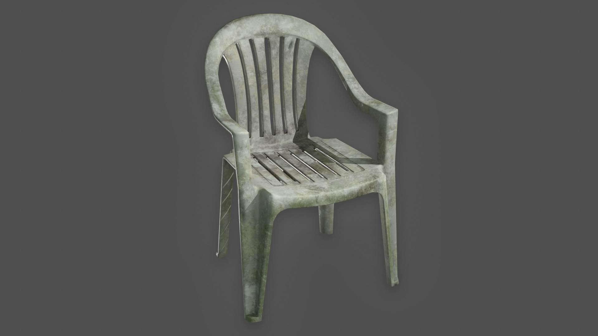 Plastic Lawn Chair 3D Model