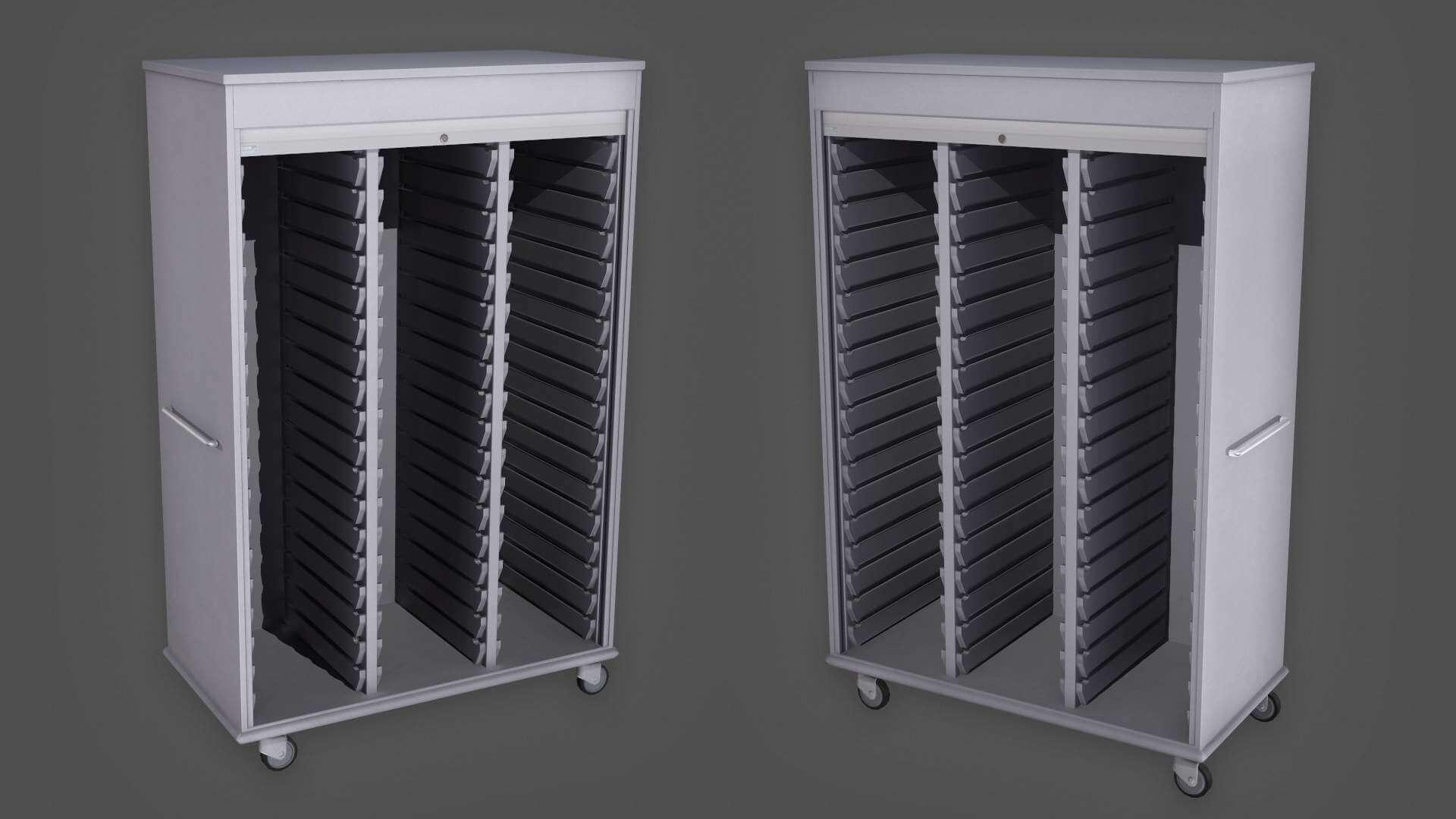Medical Supply Cabinet 3D Model