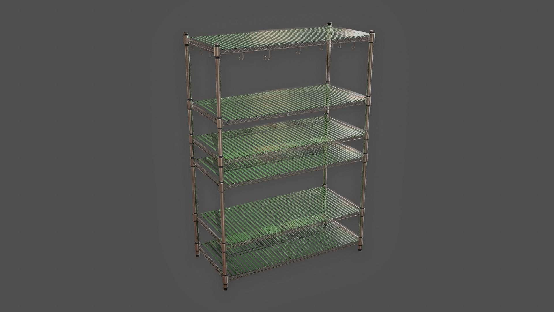 Kitchen Shelf Unit 3D Model