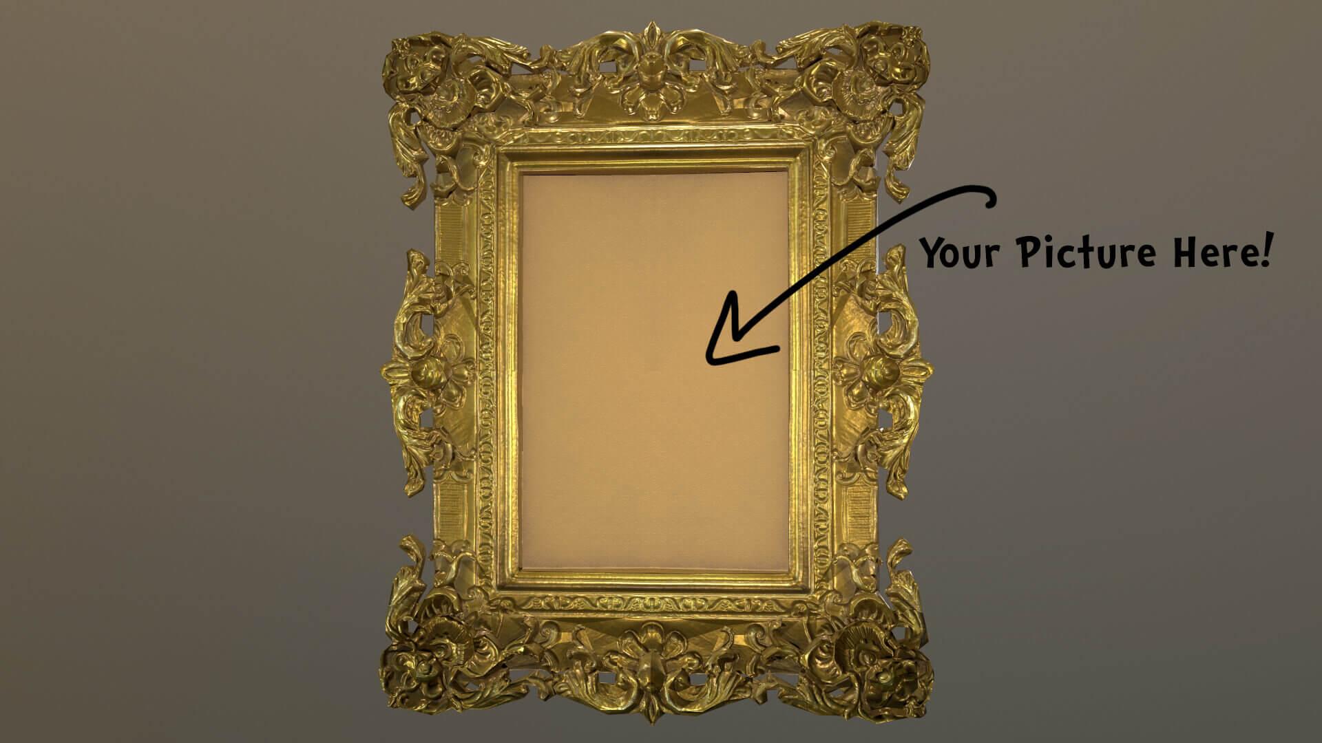 Antique Gold Frame 3D Model