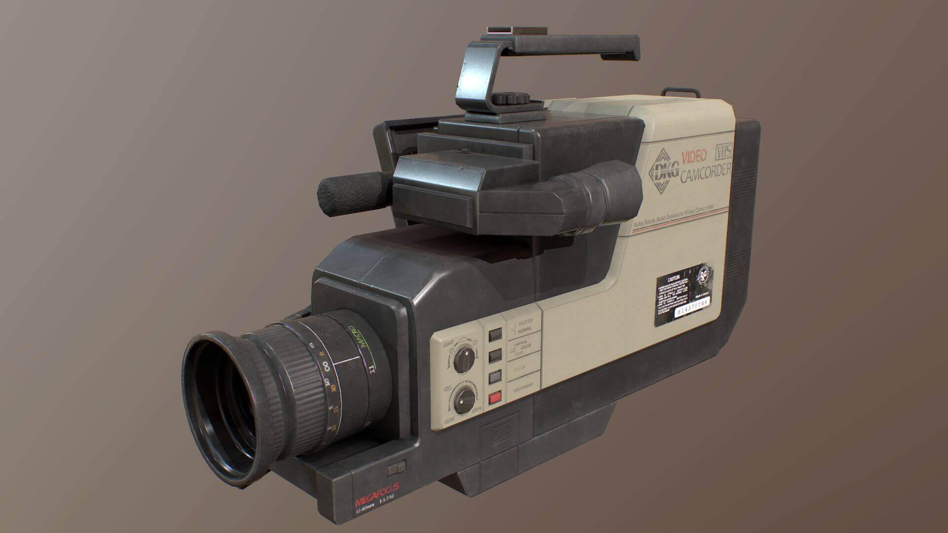 1980s Camcorder Video Recorder 3D Model