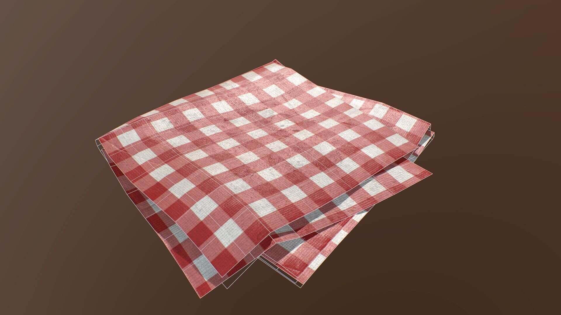 Folded Table Cloth 3d Model