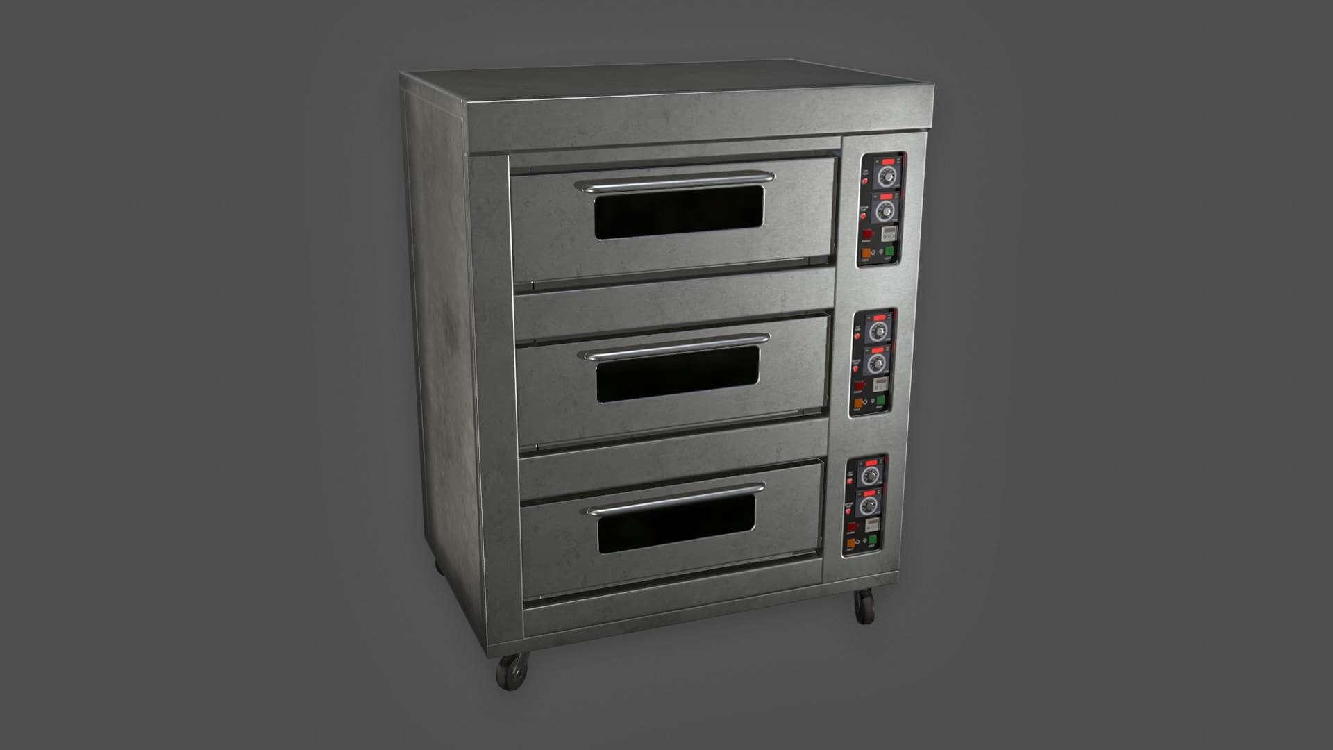 Industrial Oven 3D Model