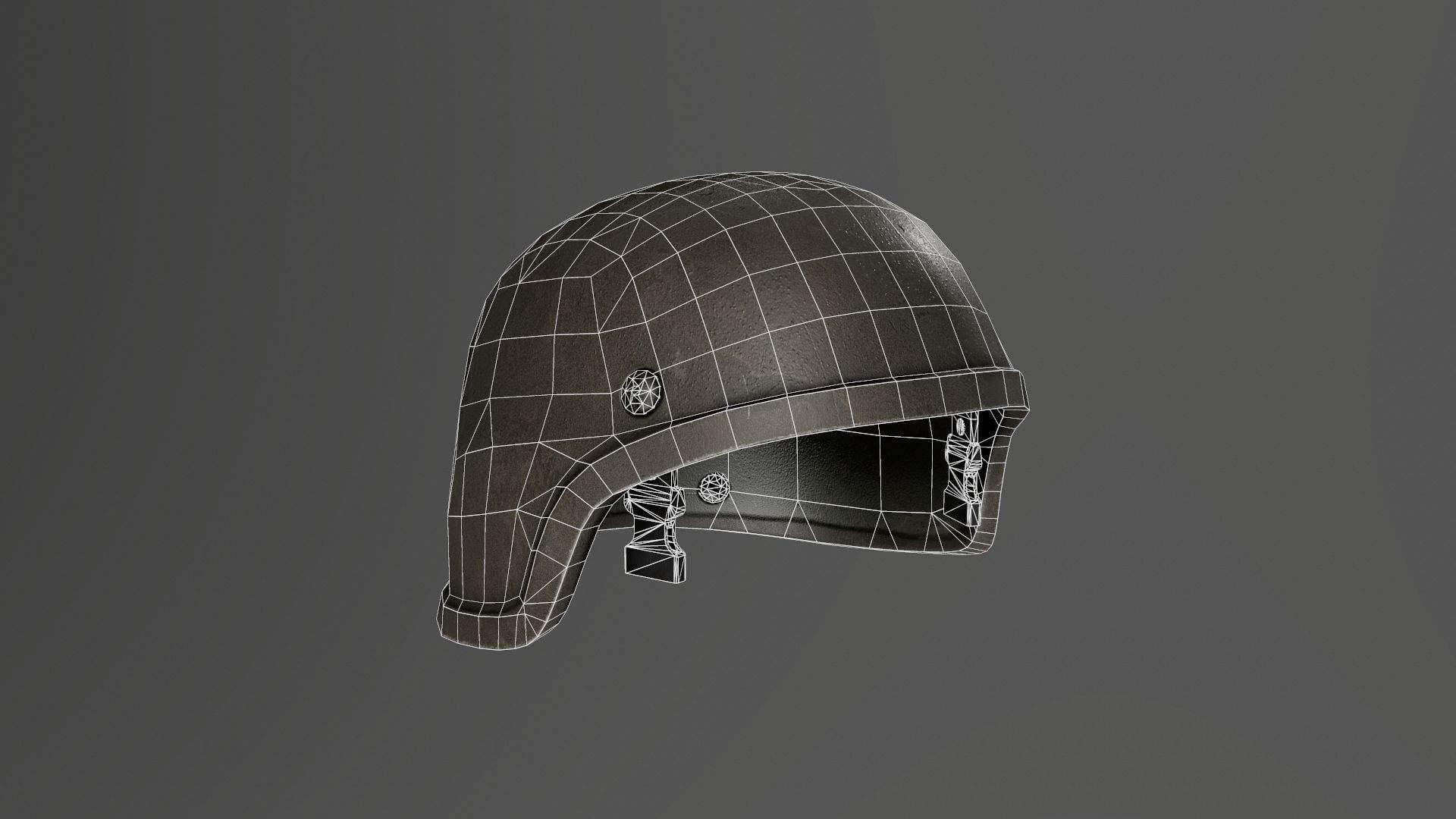 Military Helmet 01 3D Model