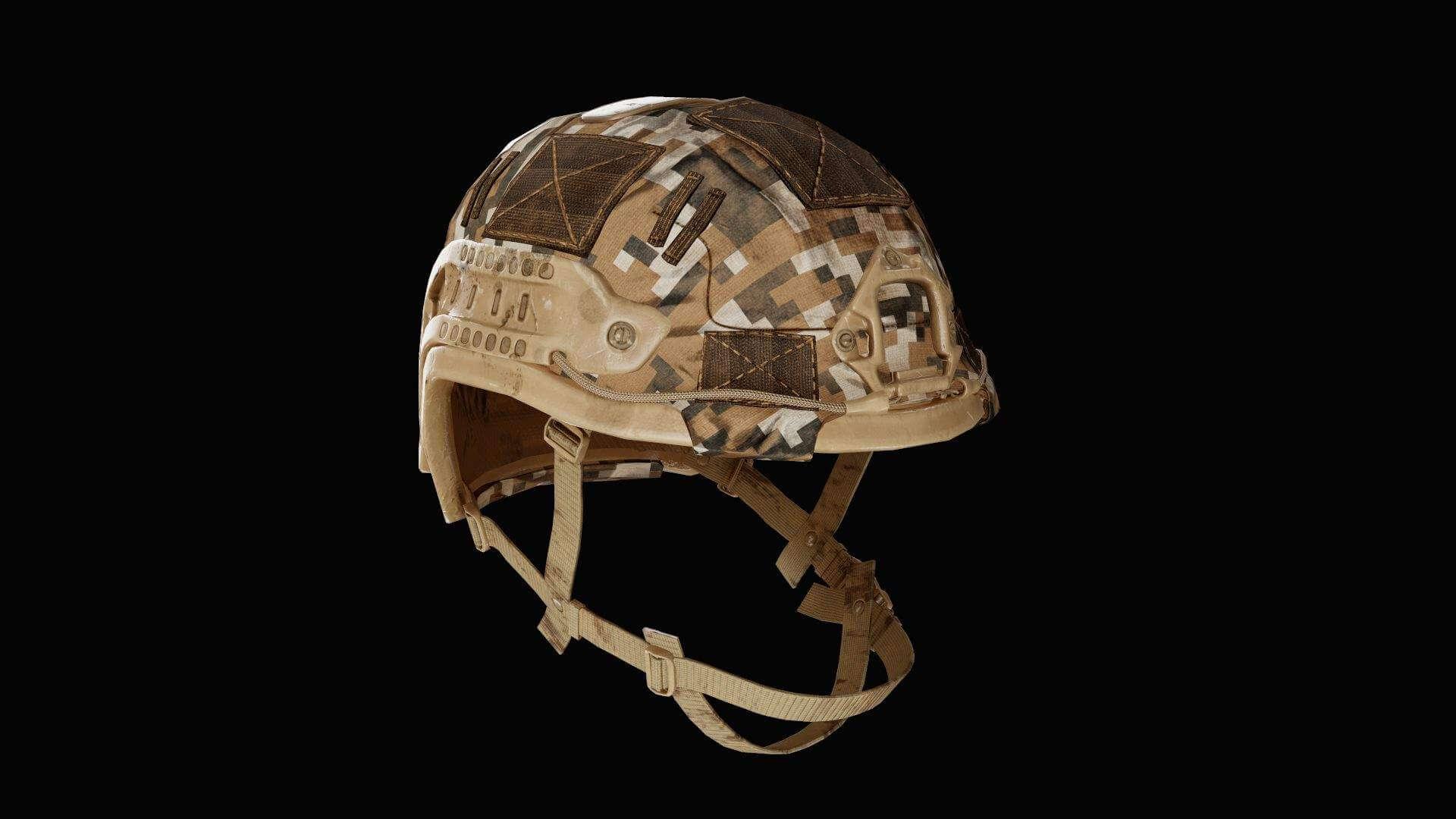 Military Helmet 02 3D Model